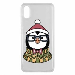Чехол для Xiaomi Mi8 Pro New Year's Penguin