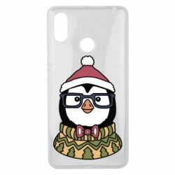 Чехол для Xiaomi Mi Max 3 New Year's Penguin