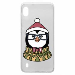 Чехол для Samsung A10 New Year's Penguin