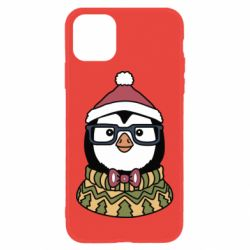 Чехол для iPhone 11 New Year's Penguin