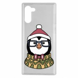 Чехол для Samsung Note 10 New Year's Penguin