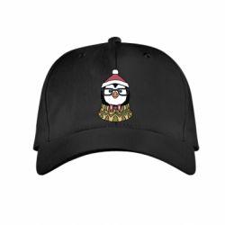 Детская кепка New Year's Penguin