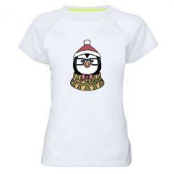 Женская спортивная футболка New Year's Penguin