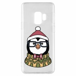 Чехол для Samsung S9 New Year's Penguin