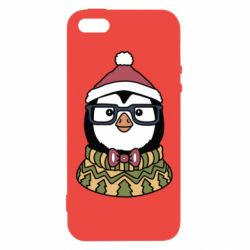 Чехол для iPhone5/5S/SE New Year's Penguin