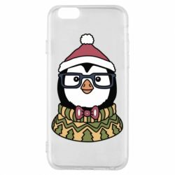 Чехол для iPhone 6/6S New Year's Penguin