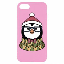 Чехол для iPhone 7 New Year's Penguin
