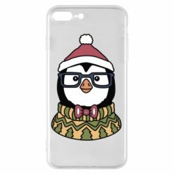 Чехол для iPhone 8 Plus New Year's Penguin