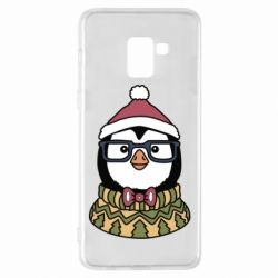 Чехол для Samsung A8+ 2018 New Year's Penguin