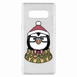 Чехол для Samsung Note 8 New Year's Penguin
