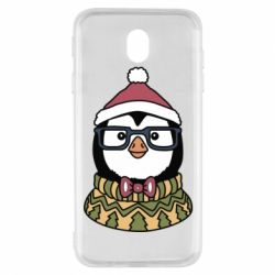 Чехол для Samsung J7 2017 New Year's Penguin