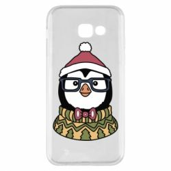 Чехол для Samsung A5 2017 New Year's Penguin