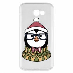 Чехол для Samsung A7 2017 New Year's Penguin