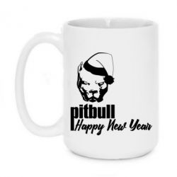Кружка 420ml New Year's Pitbull