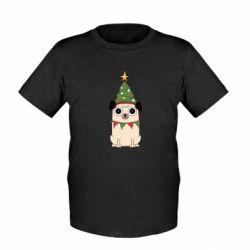 Дитяча футболка New Year's Pug