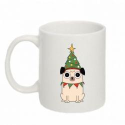 Кружка 320ml New Year's Pug