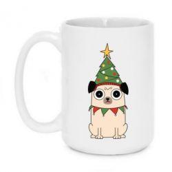 Кружка 420ml New Year's Pug
