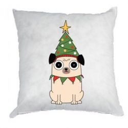 Подушка New Year's Pug