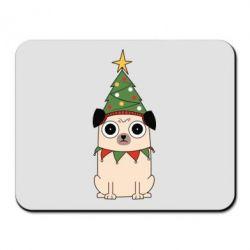 Килимок для миші New Year's Pug