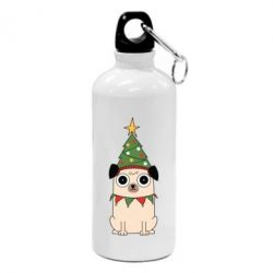 Фляга New Year's Pug