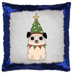 Подушка-хамелеон New Year's Pug