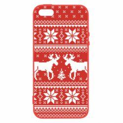 Masha, Чехол для iPhone5/5S/SE New Year's Reindeer, FatLine  - купить со скидкой