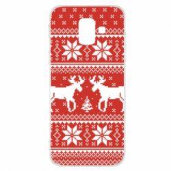 Купить Masha, Чехол для Samsung A6 2018 New Year's Reindeer, FatLine