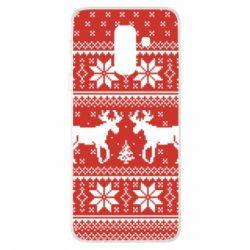 Купить Masha, Чехол для Samsung A6+ 2018 New Year's Reindeer, FatLine