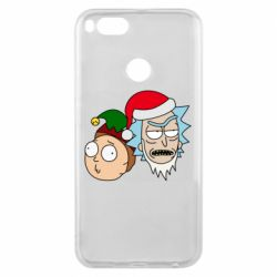 Чехол для Xiaomi Mi A1 New Year's Rick and Morty