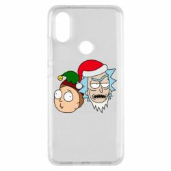 Чехол для Xiaomi Mi A2 New Year's Rick and Morty