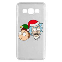 Чехол для Samsung A3 2015 New Year's Rick and Morty