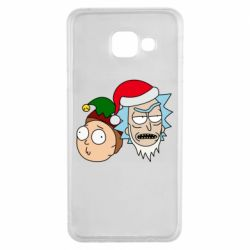 Чехол для Samsung A3 2016 New Year's Rick and Morty