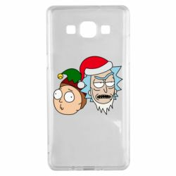 Чехол для Samsung A5 2015 New Year's Rick and Morty