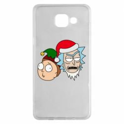 Чехол для Samsung A5 2016 New Year's Rick and Morty