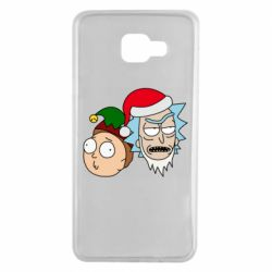 Чехол для Samsung A7 2016 New Year's Rick and Morty