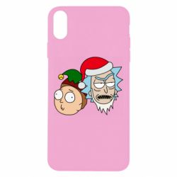 Чехол для iPhone Xs Max New Year's Rick and Morty