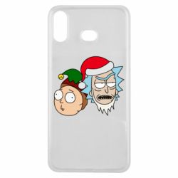 Чехол для Samsung A6s New Year's Rick and Morty