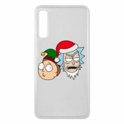 Чехол для Samsung A7 2018 New Year's Rick and Morty