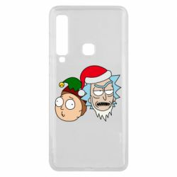 Чехол для Samsung A9 2018 New Year's Rick and Morty