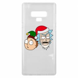 Чехол для Samsung Note 9 New Year's Rick and Morty