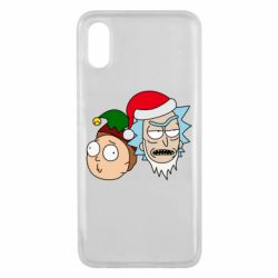 Чехол для Xiaomi Mi8 Pro New Year's Rick and Morty
