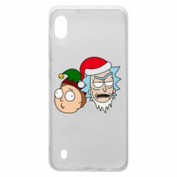 Чехол для Samsung A10 New Year's Rick and Morty