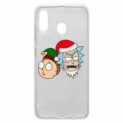 Чехол для Samsung A20 New Year's Rick and Morty