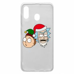 Чехол для Samsung A30 New Year's Rick and Morty