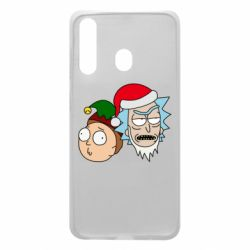 Чехол для Samsung A60 New Year's Rick and Morty