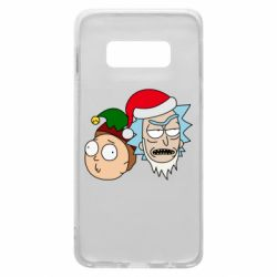Чехол для Samsung S10e New Year's Rick and Morty