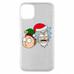 Чехол для iPhone 11 Pro New Year's Rick and Morty