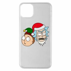 Чехол для iPhone 11 Pro Max New Year's Rick and Morty