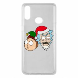 Чехол для Samsung A10s New Year's Rick and Morty