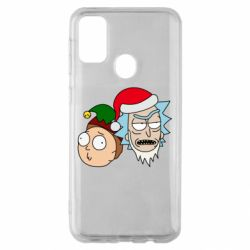 Чехол для Samsung M30s New Year's Rick and Morty